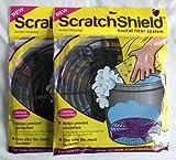 2 x Scratch Shield Car Wash Bucket Filter Grit Guards Black