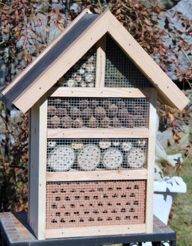 #Insektenhotel-Insektenhaus-sehr Groß-Garten-Handarbeit-Nistkasten-Vogelhaus-Naturholz!!!#