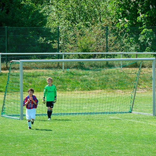 Donet Jugend - Fußballtornetz 5,15 x 2,05 m Tiefe oben 1,00/unten 1,00 m, PP 3 mm ø, knotenlos, grün
