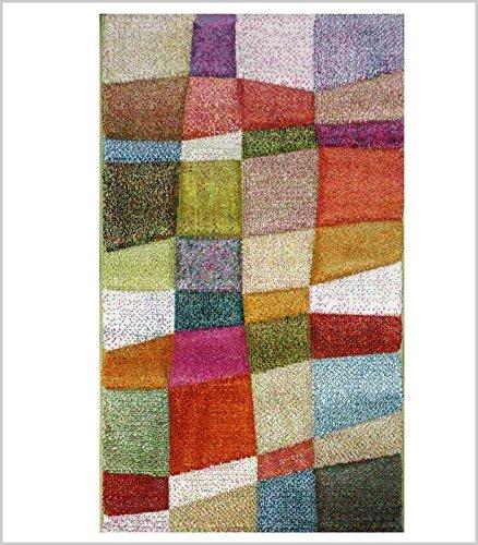 REVESTEX UNITRAMA S,A - ALFOMBRA CAMPO MULTICOLOR - 60x120 cm, Multicolor