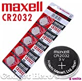 #1: Maxell CR2032 Coin Type 3V Lithium Battery (5 Pieces)