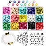 Abalorios para Hacer Pulseras, HDY 3mm Conjunto de Cuentas de Colores, DIY Bracelet Arte y joyería-Making, cadena de cuentas de fabricación de juego