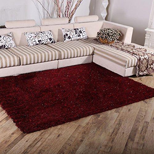 Tapis de salon Chambre à coucher de tapis de table de café de tapis de soie extensible de chiffrage de tapis de salon 6 cm d'épaisseur (taille : 140 * 200cm)