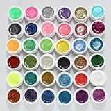 Lsv-8 36 Farbe Nagel Farbgel Mischung Glitzer UV Aufbau Gel Kunst Nail Art Glittergel