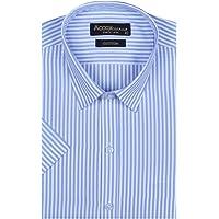ACCOX Men's Striped Half Sleeves Regular Fit Cotton Formal Shirts