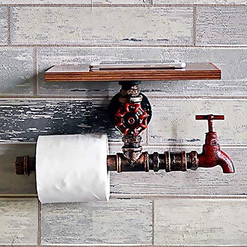 Industrielle Wind Loft Schmiedeeisen Wasserleitung Papier Handtuchhalter Wand Toilettenpapier Box Tray Home Bad Halterung Dispenser Bar Cafe Restaurant Regal (Wand Halterung Papier Handtuchhalter)