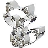 Staedter Emporte-pièce en Forme de gaufrage Fox, Argent, Acier Inoxydable, Silver, 8 cm