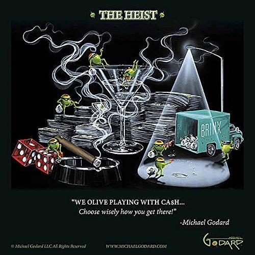 The Heist Michael Godard Humor Funny Gambling Cocktail Fantasy Print Poster 30.5x30.5 by Picture Peddler (Artwork Godard Michael)