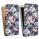 HTC Desire 816G Tasche Hülle Flip Case Blumen Rosen