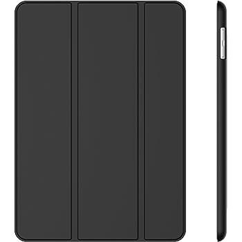 JETech Custodia per Apple iPad (9,7 Pollici, 2018/2017 Modello), Cover con Funzione di Supporto, Auto Svegliati/Sonno, Nero