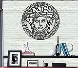 DEKADRON Décoration Murale en Métal–Medusa–3D Mural Silhouette Décoration Murale en Métal Home Office Décoration Chambre à Coucher Salle de Séjour Décor Sculpture 17' W x 17' H/44x44cm Noir