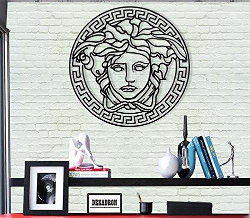 DEKADRON Décoration Murale en Métal–Medusa–3D Mural Silhouette Décoration Murale en Métal Home Office Décoration Chambre à Coucher Salle de Séjour Décor Sculpture 17' W x 17' H/44x44cm No