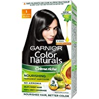 Garnier Color Naturals Crème hair color, Shade 1 Natural Black, 70ml + 60g