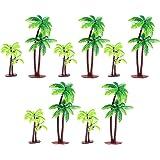 Xinlie Plast kokosnöt palmträd miniatyr växtkrukor Bonsai hantverk mini landskap gör-det-själv docka hus harts dekoration kon