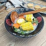 SLW Große Keramik Müsli Suppe Schüssel Pasta Schüssel servieren Geschirr Nudel Ramen Kitchenaid Futternapf Obstsalat Schüssel 8 Zoll