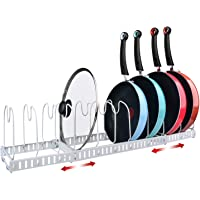 X-cosrack Étagère de 10 compartiments pour couvercles de casseroles - Support pour couvercles de casseroles - Support…