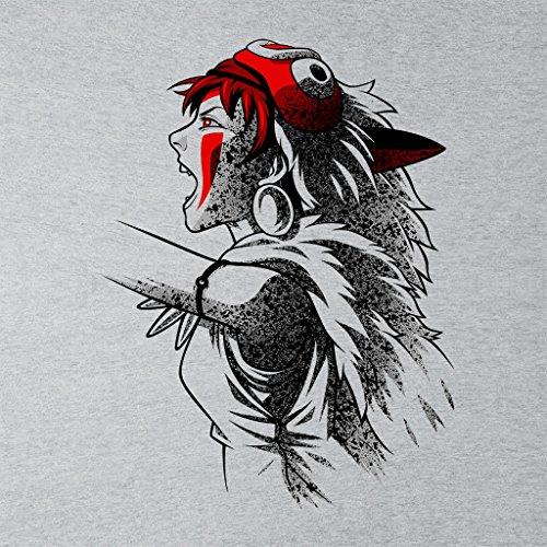 Princess Mononoke Side Profile Women's Sweatshirt Heather Grey