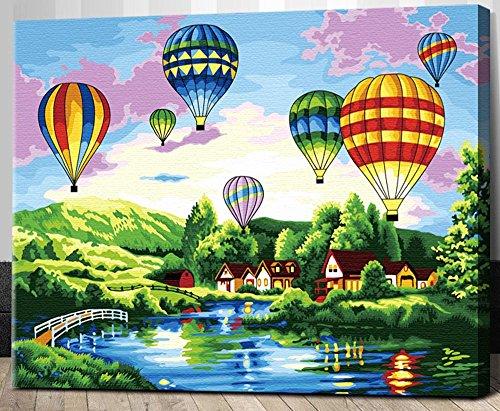 Obella vernice da numero su tela incorniciata-Palloncino 40,6x 50,8cm DIY Pittura a olio-Disegni per adulti e bambini principianti bambini Room Home Decor