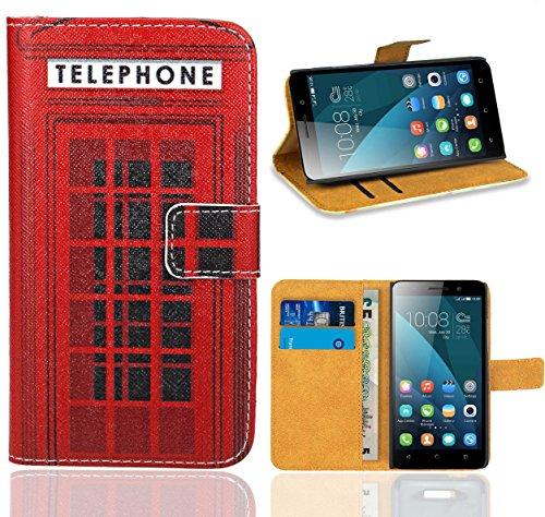 Huawei Honor 4X Handy Tasche, FoneExpert Wallet Case Flip Cover Hüllen Etui Ledertasche Lederhülle Premium Schutzhülle für Huawei Honor 4X