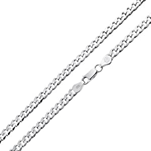 180 Gauge 925 Sterling Silver Solid Miami Cuban Curb Chain Necklace For Men For Women Made In Italy 16 18 20 24 30 Inch