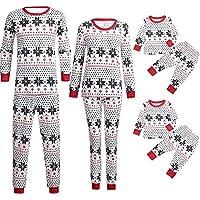 Conjunto de Pijamas de Navidad Familiar Ropa De Dormir Rayas Camisetas de Manga Larga Mujer Hombre