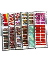 12 Nail Art autocollants Stickers acrylique Français modernisme de style différents Nail wraps Patch Manucure