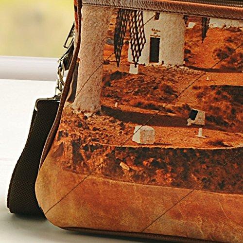 Yuga Printed Mode Schulter Handtaschen Designer-Frauen-Beutel mit Reißverschluss-Taschen Braun