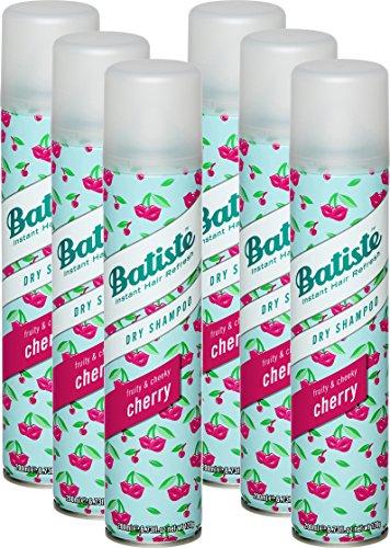 Batiste Trockenshampoo Dry Shampoo Fruity & Cheeky Cherry, Frisches Haar für alle Haartypen, 6er Pack (6 x 200 ml)