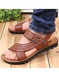 xing lin homme Sandales d'été Tong pour homme Angleterre Clip Sandales NEUF antidérapant Cool Sandales Chaussures Trend 40Noir