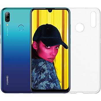 """Huawei Psmart 2019 (Aurora Blu) più esclusiva cover trasparente, Telefono con 64 GB, Display 6.21"""" Full HD+, Processore Octa Core dinamico con Intelligenza Artificiale [Versione Italiana]"""