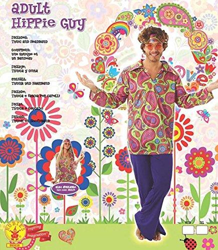 Rubie' s ufficiale da uomo 70's hippie Guy adulto costume–Medium standard