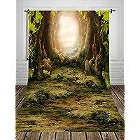 Toile de Fond Pour Photos de Bébé Nouveau-né Photographie NIVIUS PHOTO Lavable Coton Imperméable à l'eau Polyester Fond Vert Grotte de Conte de Fées D-8270(150x220cm FR)