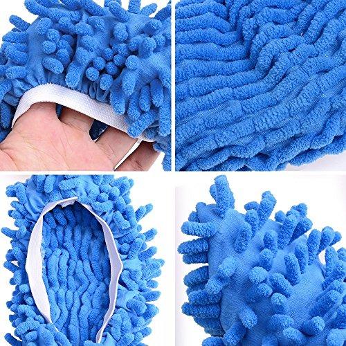 = 10 pz 5 paia Duster Mop Pantofole Scarpe Copertura, Multi Funzione Ciniglia Fibra Lavabile Piano Pulizia Scarpe per Bagno Ufficio Cucina Casa Lucidatura Pulizia, Gspirit (5) lista dei prezzi