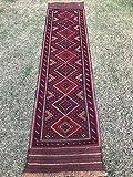 Artikel # 5638Tribal handgeknotet meshwani Kelim Läufer Wolle Teppich Perser Design Teppich 246x 60cm–8.1x 2.0Füße