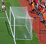 Hochwertige Tornetze (Paar) für Stadion Fußballtore, 7,3 x 2,4 m, geflochtenes 4,5 mm Netzgarn [Net World Sports]