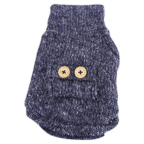 d Kleidung, Haustier Hund warme weiche Plüsch Kleidung Welpen Winter Pullover Bekleidung Jacke Mantel Kostüm(L) (Niedliche Halloween Kostüme Für Kaltes Wetter)