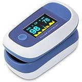 CYBERNOVA Finger Pulsossimetro con il colore di OLED Display-% SpO2 (saturazione di ossigeno del sangue) e cardiofrequenzimet