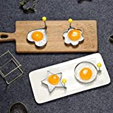 Stainless Steel Fried Egg Mould, Non-Stick Egg Rings Cooking Egg Fried Pancake Omelets Mold Rings Kitchen Cooking Tools Small Utensil, Stainless Steel Egg Form For Frying Cooking, Set Of 4