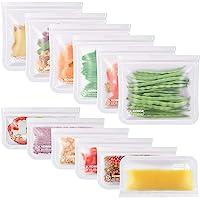 Kollea Lot de 12 Sac Congelation Reutilisable, 6 Pcs Multifonction Sac Réutilisable Silicone pour Nourriture pour…