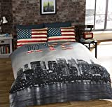 Photo de Urban Unique New York City Distressed Vintage réversible NYC Photo impression housse de couette, multicolore, unique par Urban GoCo