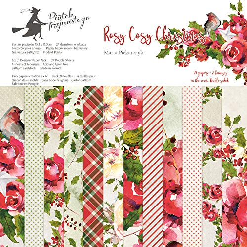 andere Hersteller PL13 Paper Pad 12x12 - Rosy Cozy Christmas -