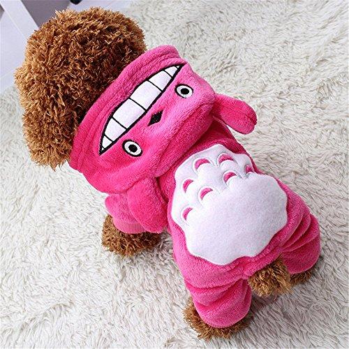 Mantel Pullover Winter Haustier Hund Katze Kleidung Bekleidung Bekleidung Kostüm (XS, Pink) (Kleine Hunde In Kostüme)