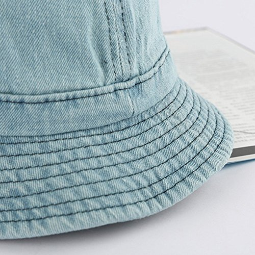 Surker femmes couleur unie Hat Holiday Sunscreen Sun Hat bleu fonc¨¦