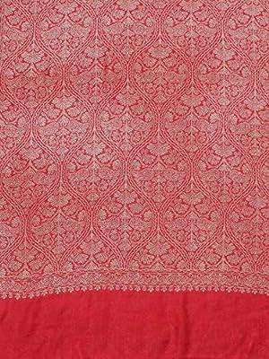 Weavers Villa Women's Soft Viscose Shawls, Scarf, Stoles (Red)