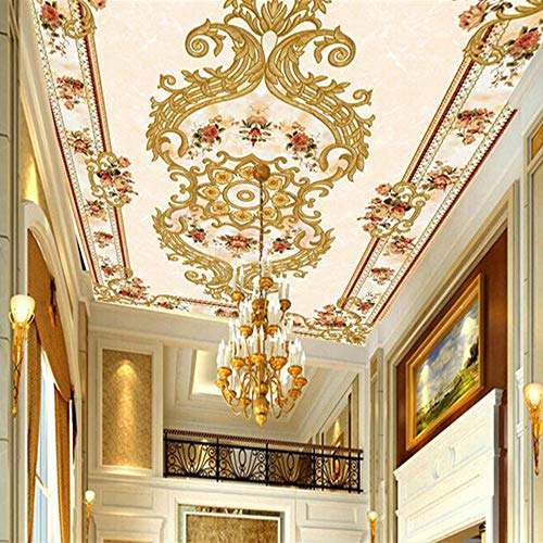 Anpassen 3D Wandbild Tapete Europäischen Stil Moderne Luxus Wandmalereien Hotel Halle Bettwäsche Zimmer Hintergrund Wohnkultur Tapeten, 200 × 140 Cm