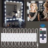 BLOOMWIN Kit de lumière LED pour Miroir avec Télécommande 12V 60LEDS Lumière de Miroir Dimmable Hollywood Lampe pour…