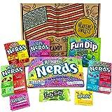 Confezione Piccola Assortita di Snack Wonka Nerds | Caramelle Americana per Idea Regalo di Natale e Compleanno | Vasta Gamma tra cui Wonka Nerds Laffy Taffy | Confezione Vintage di Cartone