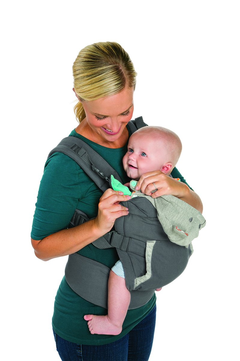 Infantino Cuddle Up Ergonomic Hoodie Carrier, Grey Infantino Fully safety tested Carries children from 12-40lbs (5.4 - 18.1 kgs) 8