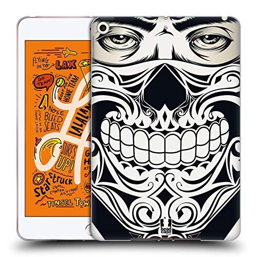 Head Case Designs Totenkopf Bandana Soft Gel Huelle kompatibel mit iPad Mini (2019) (Case Mini Bandana Ipad)