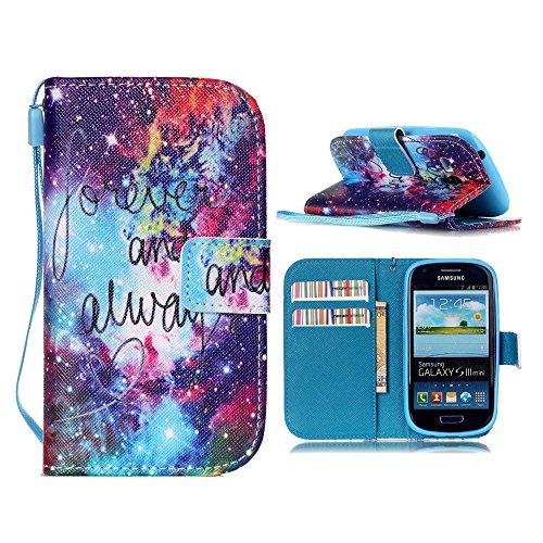 Linvei Samsung Galaxy S4 Mini Cuir Coque Portefeuille Case in Style Book Avec beau modèle -Housse Etui Pour Samsung Galaxy S4 Mini C-20